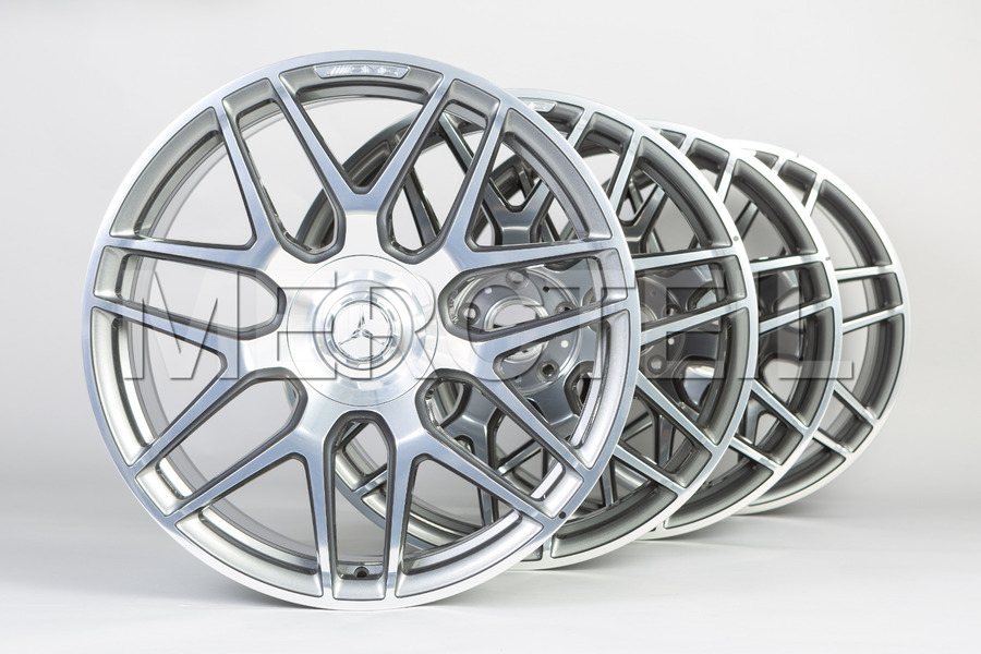 19 Inch AMG 45 Himalaya Grey Forged Rims for CLA Class C118 including Front Rims (2 pcs.), Rear Rims (2 pcs.) in Wheels & Tyres.