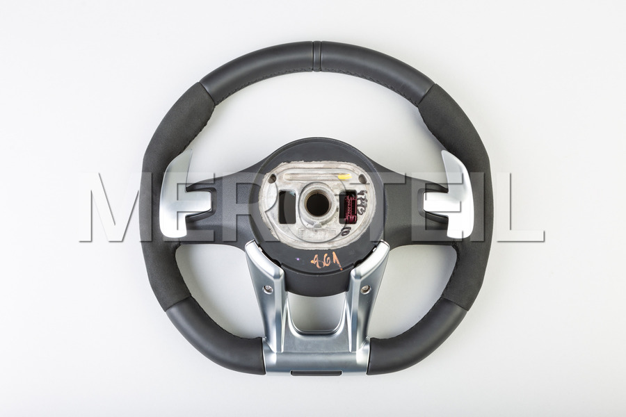 AMG Black Leather Alcantara Steering Wheel including AMG Steering Wheel (1 pc.), Covers (2 pcs.), Gearshift Paddels Set (1 pc.), Contact Plate With Switch Panel (1 pc.), Vibration Motor (1 pc.) in Electronics & Multimedia, Steering Wheels.