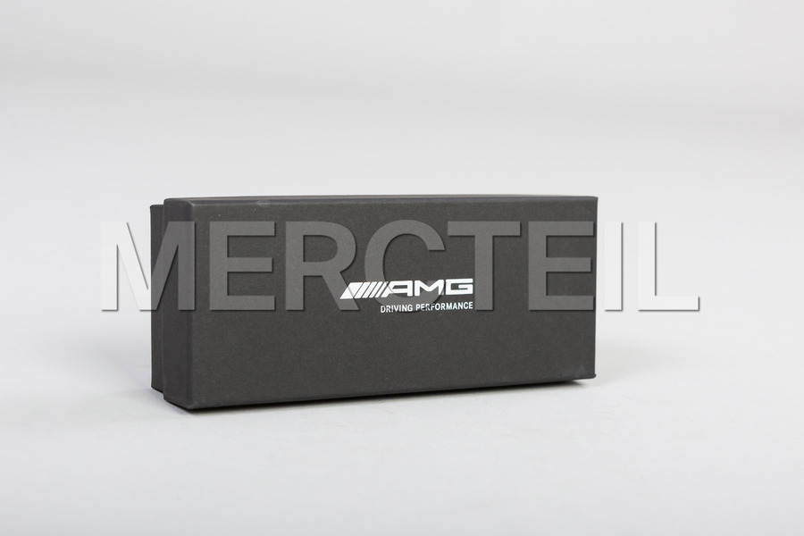 AMG Black Leather Keyring Red Stitching including Keyring (1 pc.) in Accessories.