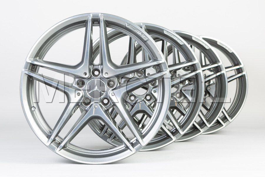 AMG C Class 19 Inch Set Of Alloy Wheels for C Class C/W205 including Front AMG Alloy Wheels (2 pcs.), Rear AMG Alloy Wheels (2 pcs.) in Wheels & Tyres.
