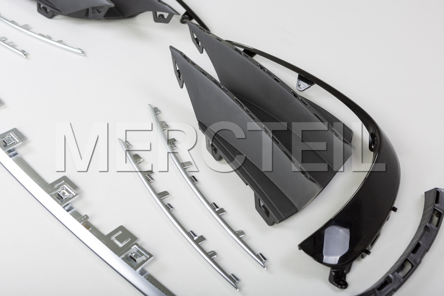 AMG CLS53 Front Bumper Conversion Kit to for CLS Class C257 including Left and Right side grids  (2 pcs.), Central Molding (1 pc.), Side Grids Moldings (2 pcs.), Left and Right Flics (1 pc.), [object Object], [object Object] in Body Parts & Aerodynamics.