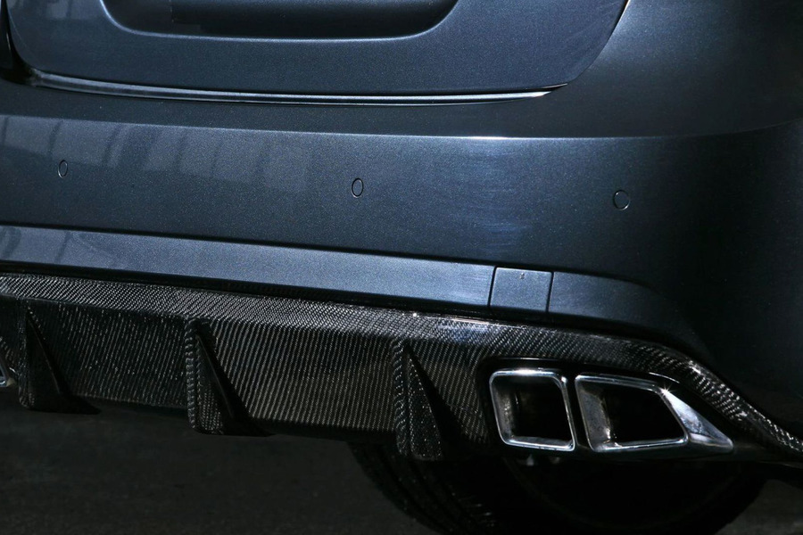 AMG E63 Carbon Rear Diffuser for E Class W212 including Carbon diffuser (1 pc.), Ornamental mouldings (4 pcs.) in Body Parts & Aerodynamics, Engine & Exhaust System.