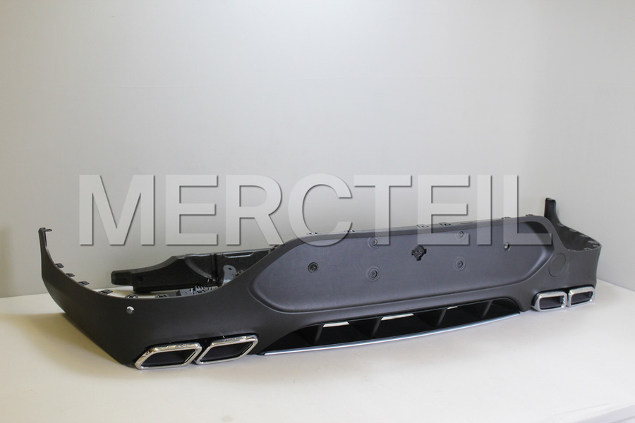 AMG GLC63 Coupe Chrome Diffuser Retrofit for GLC Class Coupe C253 including AMG Tail Pipes S65 Chrome (2 pcs.), Diffuser (1 pc.), Ornamental Mouldings Kit (1 pc.), Fastening Elements (1 pc.) in Body Parts & Aerodynamics.