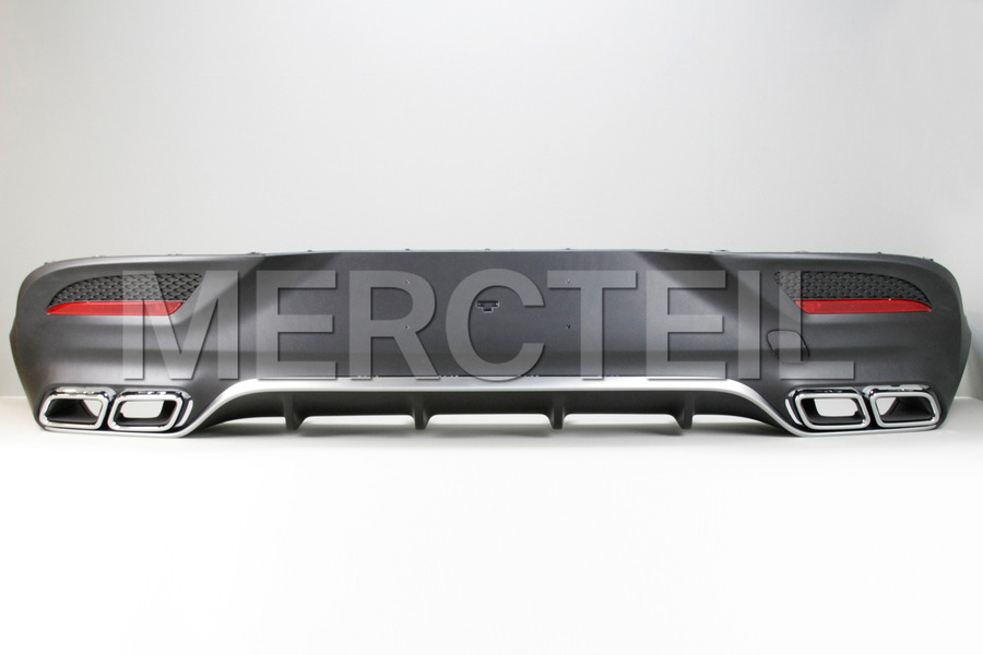 AMG GLE Coupe Chrome Diffuser Retrofit Kit for GLE Coupe C292 including Diffuser Main Parts and Brackets Set (1 pc.), AMG Chrome Exhaust Tailpipes (2 pc.), Ornamental Moldings and Trims (1 pc.), Mounting Elements and Parts (1 pc.) in Body Parts & Aerodynamics, Engine & Exhaust System.