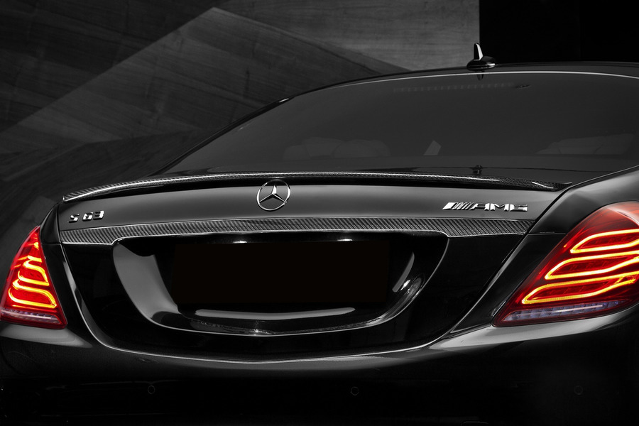 AMG Rear Spoiler for S Class W222 including Lid Spoiler (1 pc.) in Body Parts & Aerodynamics.