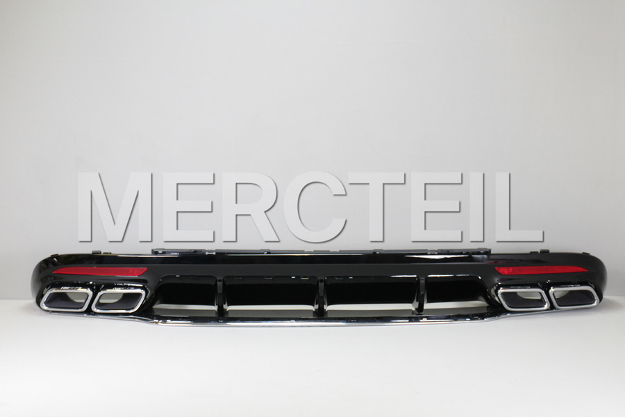 AMG S63 Coupe Chrome Diffuser Retrofit for S Klasse Coupe C217 2018 including AMG Tail Pipes S63 Chrome (2 pcs.), Diffuser (1 pc.), Ornamental Mouldings Kit (1 pc.), Fastening Elements (1 pc.) in Body Parts & Aerodynamics, Engine & Exhaust System.