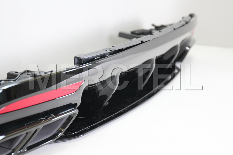 AMG S65 Coupe Night Diffuser Retrofit Kit for S Class Coupe C217 2018 including AMG Tail Pipes S65 Night (2 pcs.), Diffuser (1 pc.), Ornamental Mouldings Kit (1 pc.), Fastening Elements (1 pc.) in Body Parts & Aerodynamics, Engine & Exhaust System.