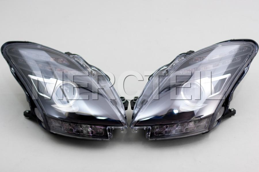 AMG SLS Black Series / GT Black Headlights for SLS AMG C197 including Black Lamp Units (2 pcs.) in Lights & Electronics.
