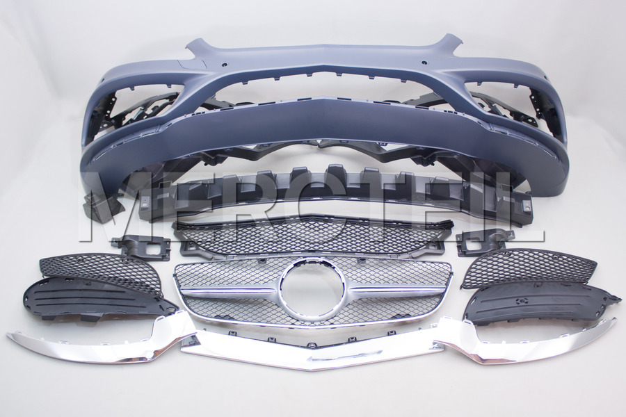 AMG Sport Package Retrofit Conversion Body Kit for C207 including Front Bumper AMG Assembly (1 pc.), Rear Bumper AMG Assembly (1 pc.), AMG Side Skirts (2 pcs.) in Body Parts & Aerodynamics.