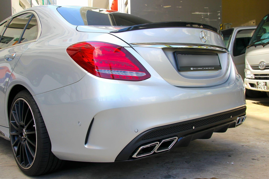 AMG Sport Rear Spoiler for C Class W205 including Lid Spoiler (1 pc.) in Body Parts & Aerodynamics.