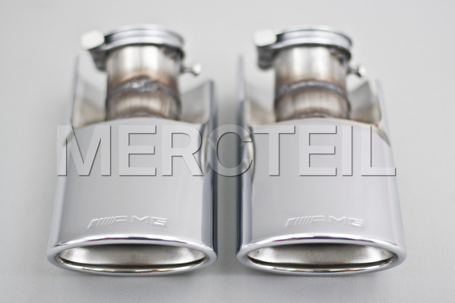 AMG Tail Pipe Covers Set including Exhaust Tailpipes (2 pcs.) in Engine & Exhaust System.