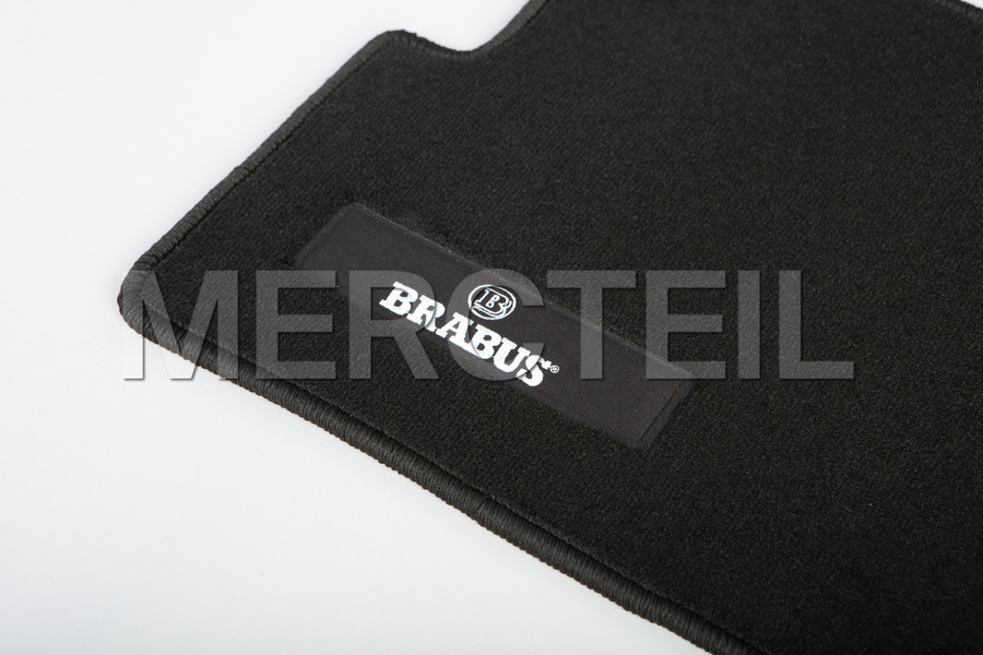 BRABUS Black Velour Floor Mats Black Stitching for G Class W463A including Floor Mats (5 pcs.) in Accessories.