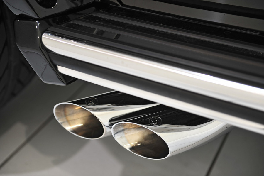 BRABUS Exhaust Tail Pipes G350 for W463 including  Exhaust Tailpipes (2 pcs.) in Engine & Exhaust System.
