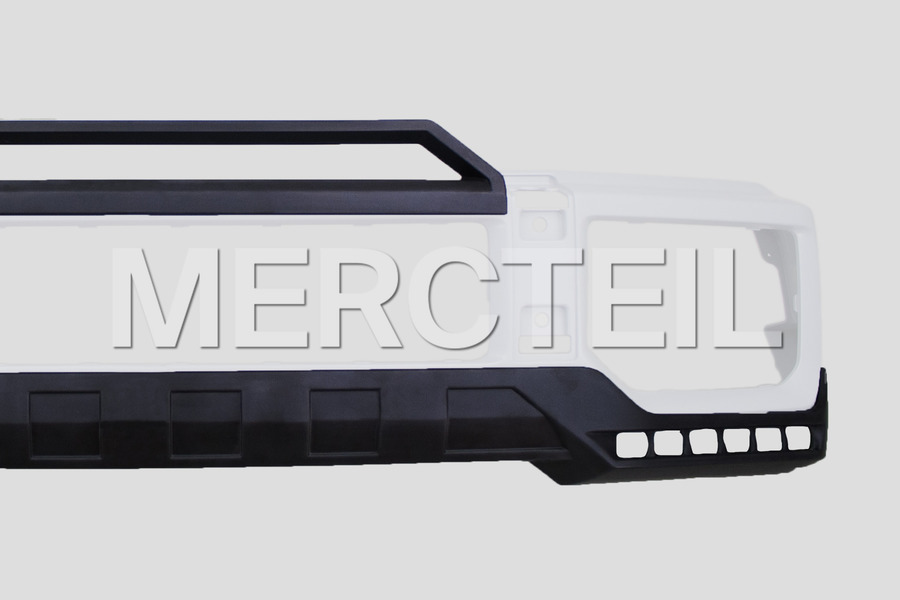 BRABUS Front Skirt Add-On for G Class W463 including BRABUS Front Lips (2 pcs.), LED Dytime Running Lights (2 pcs.), Fastenings Elements Kit and Lead Cabels Set (1 pc.), Illuminated BRABUS-Logo (2 pcs.) in Body Parts & Aerodynamics.