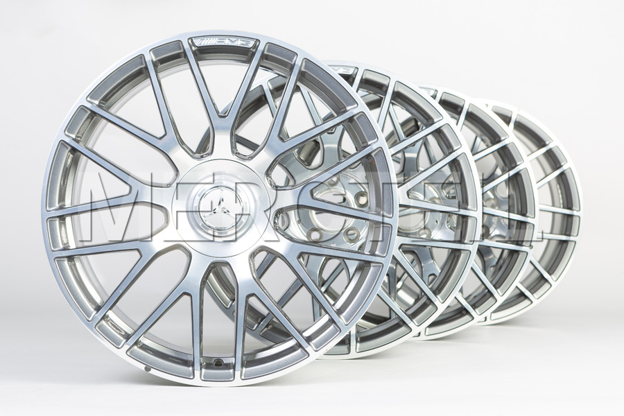 Forged Wheels Himalaya Grey Set for AMG GT C190 including Front Rims (2 pcs.), Rear Rims (2 pcs.) in Wheels & Tyres.