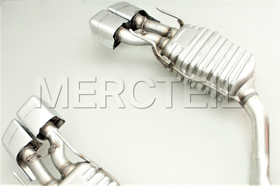 Mercedes CL63 AMG Exhaust System for CL Class C216 including Exhaust Silencer left with AMG logo (1 pc.), Exhaust Silencer right with AMG logo (1 pc.) in Engine & Exhaust System.