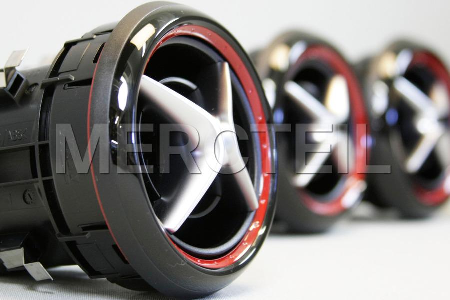 Red Air Nozzle Set including Center air nozzle (3 pcs.), Left air nozzle (1 pc.), Right air nozzle (1 pc.) in Seats & Trims, Electronics & Multimedia.