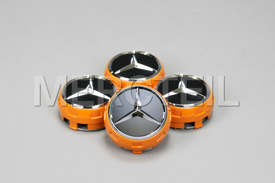 Set Of Center Wheel Caps Edition Orange including Wheel Caps (4 pcs.) in Accessories, Wheels & Tyres.