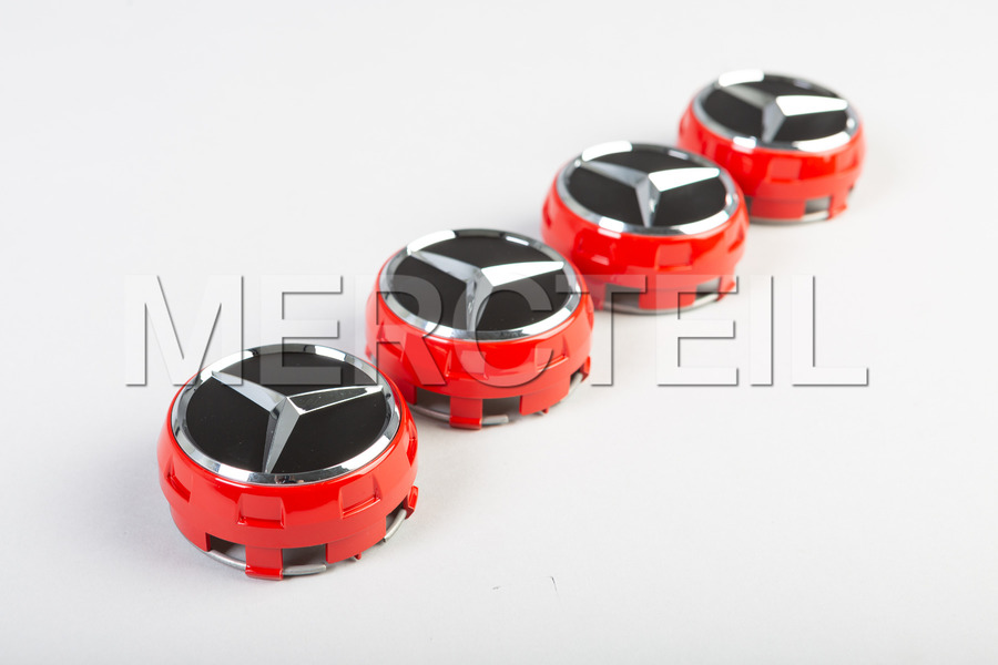 Set Of Red Center Wheel Caps including Center Wheel Caps (4 pcs.) in Accessories, Wheels & Tyres.