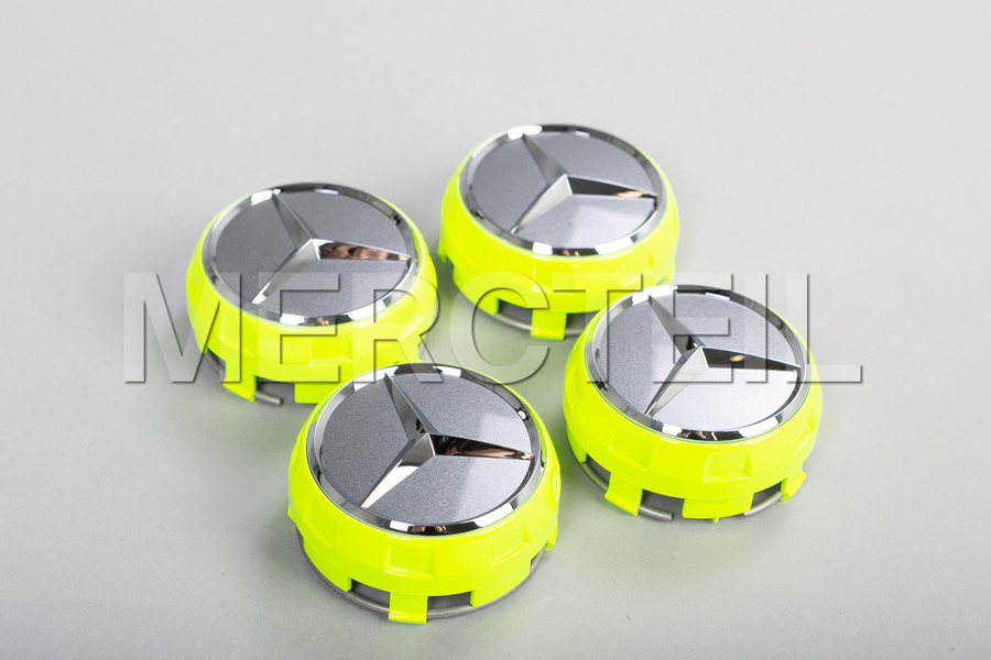 Set Of Yellow Center Wheel Caps including  Center Wheel Caps (4 pcs.) in Wheels & Tyres.