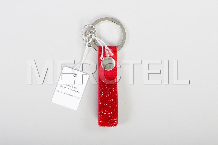 SWAROVSKI Red Alcantara Keyring including Keyring (1 pc.) in Accessories.